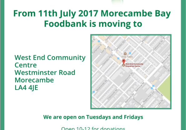 Foodbank is moving